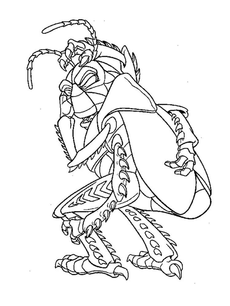 a bugs life coloring book pages - photo #18