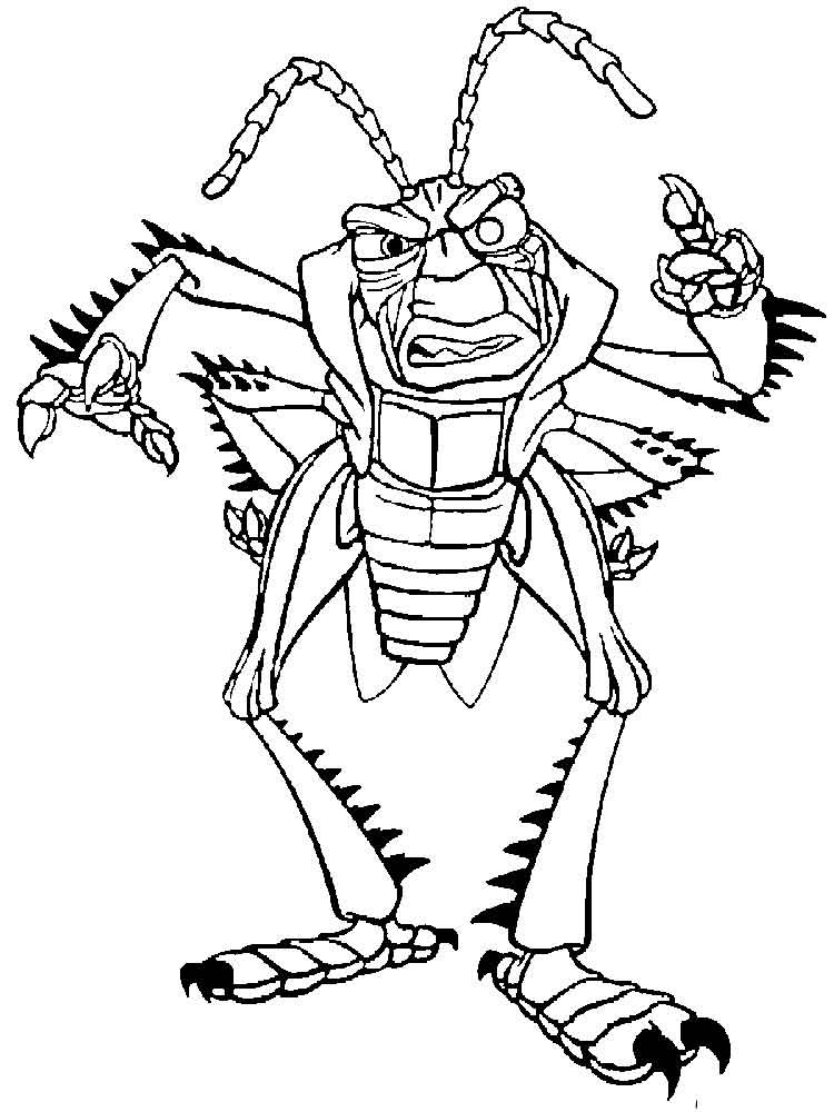 Unite disney september 2016 for Bugs life coloring pages