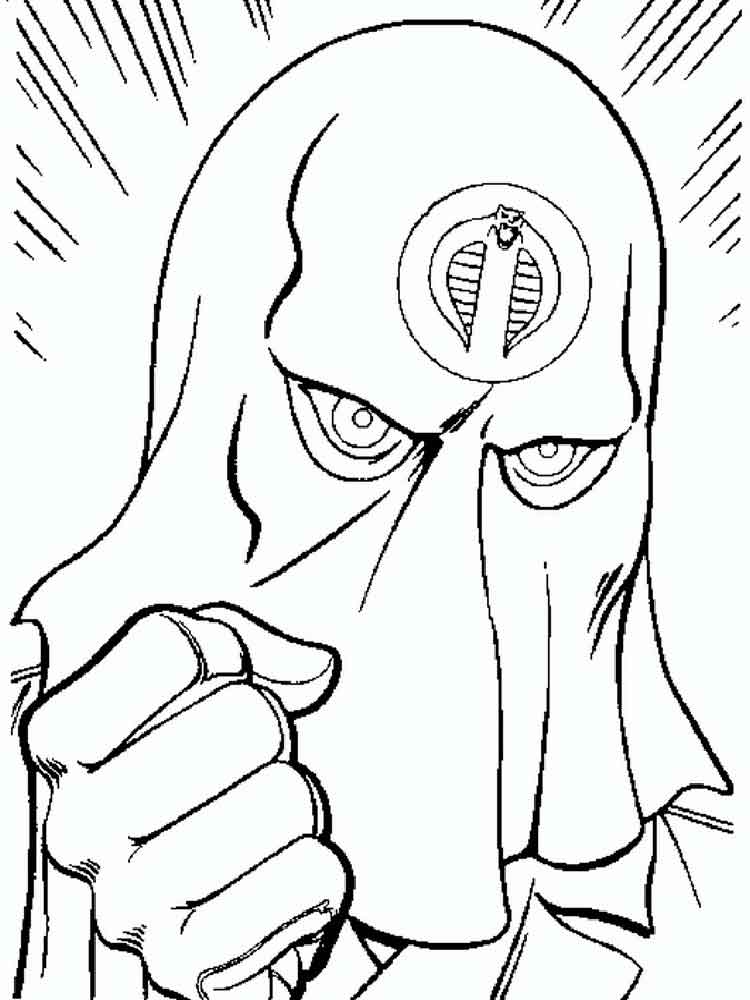 cartoon action coloring pages - photo#10