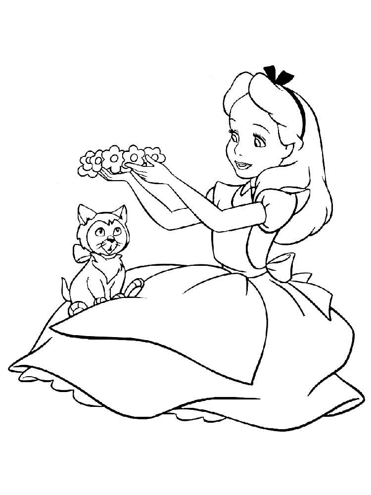 alice in the wonderland coloring pages mad hatter alice