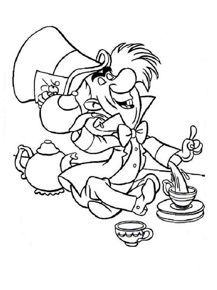Alice In Wonderland Coloring Pages Download And Print Alice In