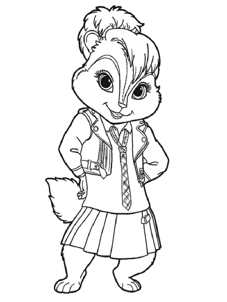 Alvin and the Chipmunks coloring pages Download and print Alvin