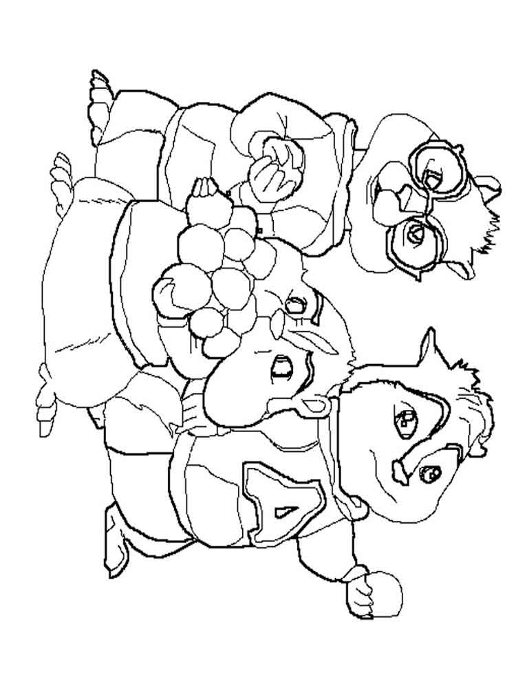 Alvin and the Chipmunks coloring pages. Download and print Alvin ...