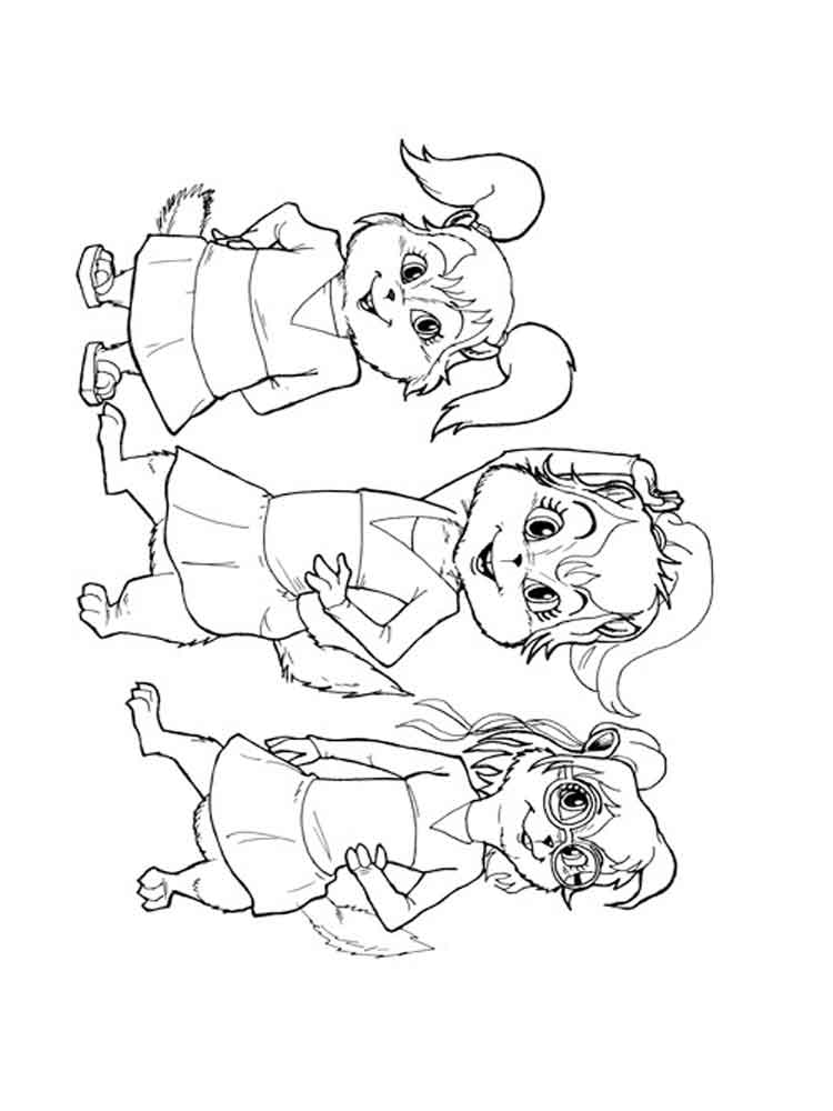alvin and the chipmunks coloring pages  download and print alvin and the chipmunks coloring pages