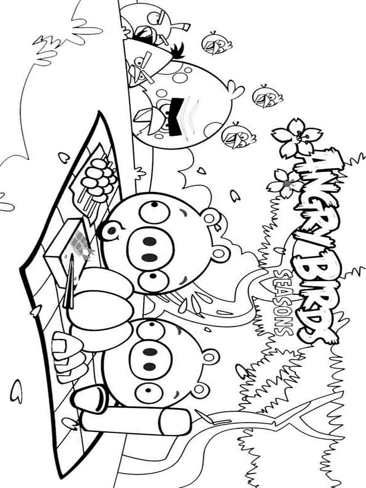 Angry Birds coloring pages Download