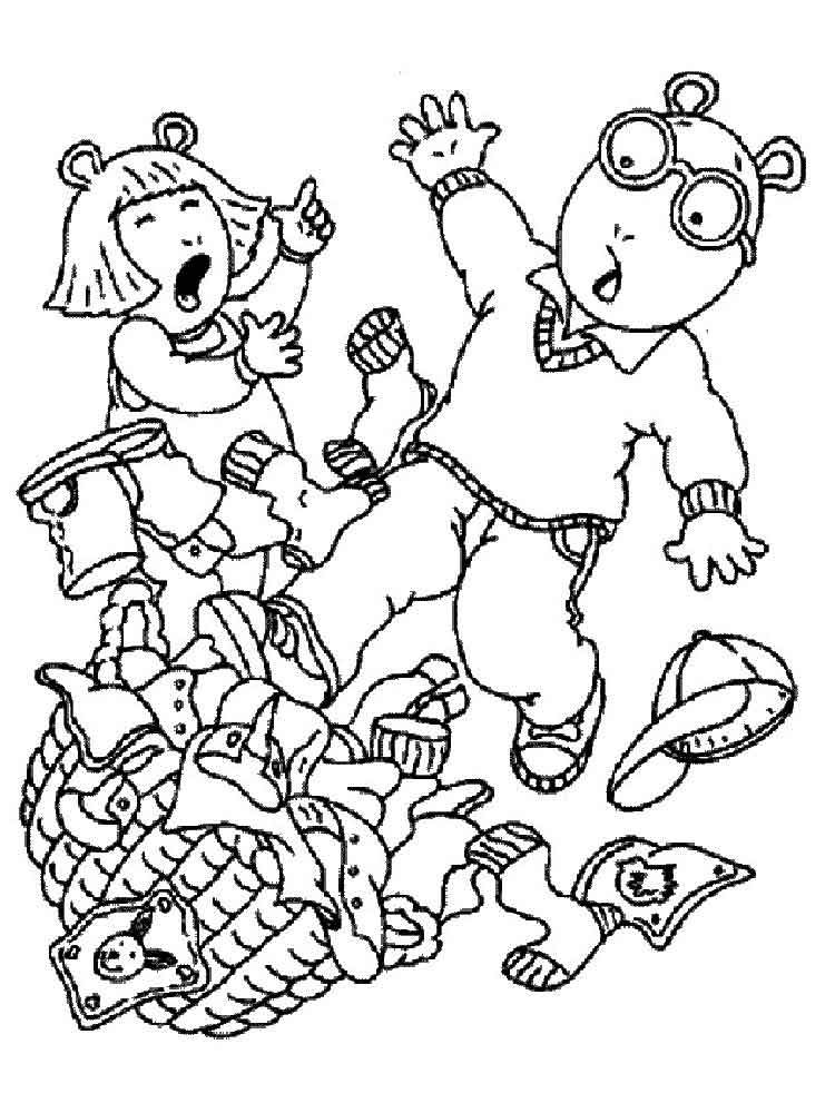 arthur coloring pages 10 - Arthur Coloring Pages
