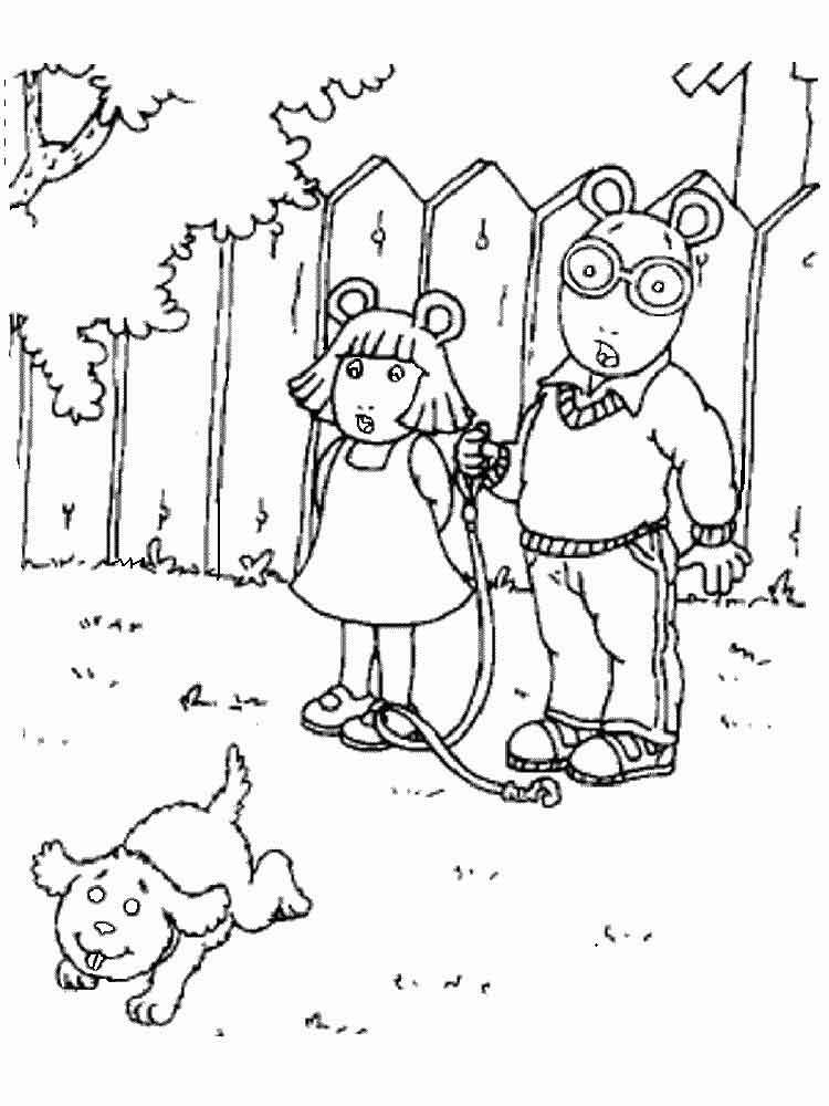 Arthur Coloring Pages Download And Print Arthur Coloring