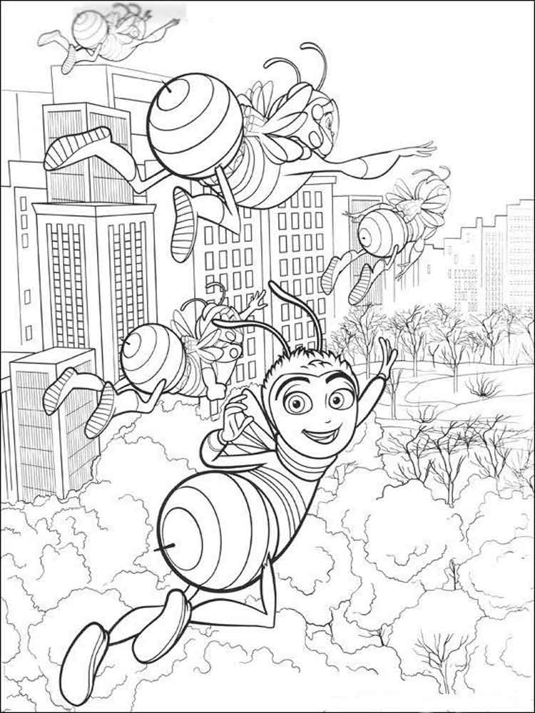 Bee Movie coloring pages Download
