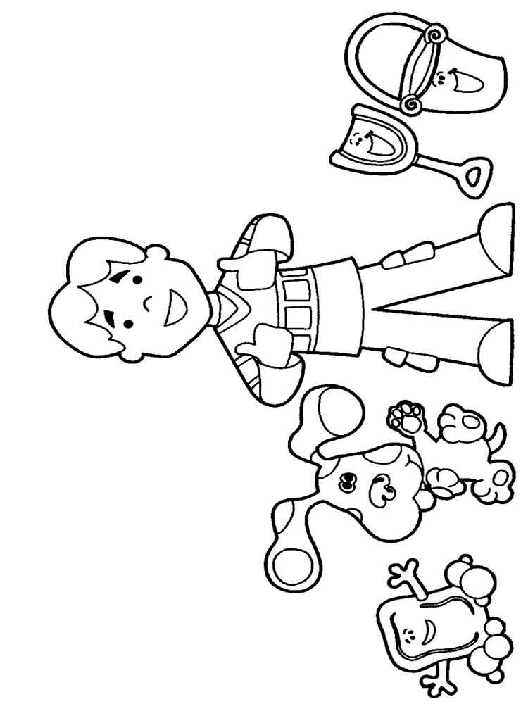 blues clues coloring pages to print - blue 39 s clues coloring pages download and print blue 39 s