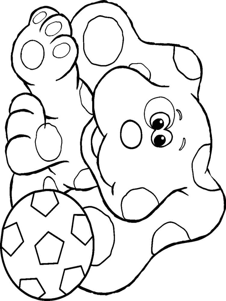 Blue 39 s clues coloring pages download and print blue 39 s for Blue coloring page
