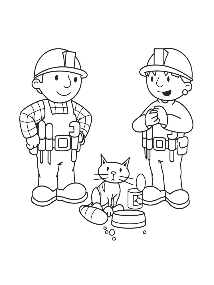 bob the builder coloring pages 10