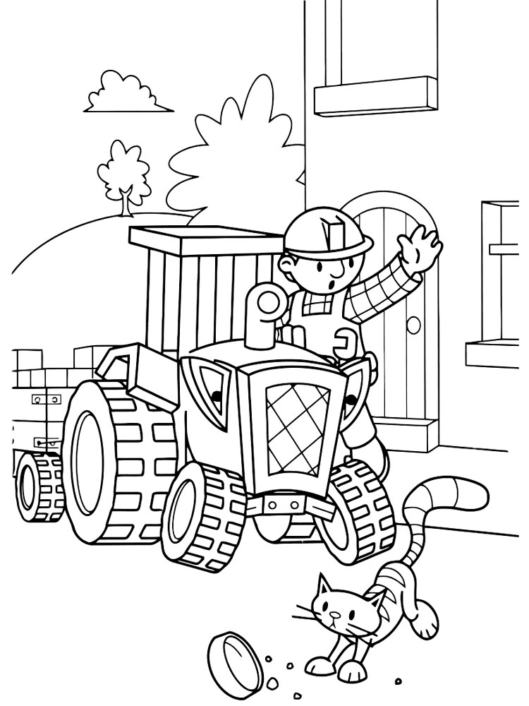 Bob The Builder Coloring Pages Download And Print Bob The