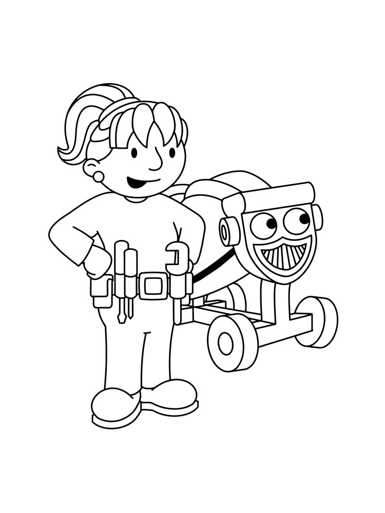 Bob the builder coloring pages download and print bob the for Bob the builder coloring pages printable
