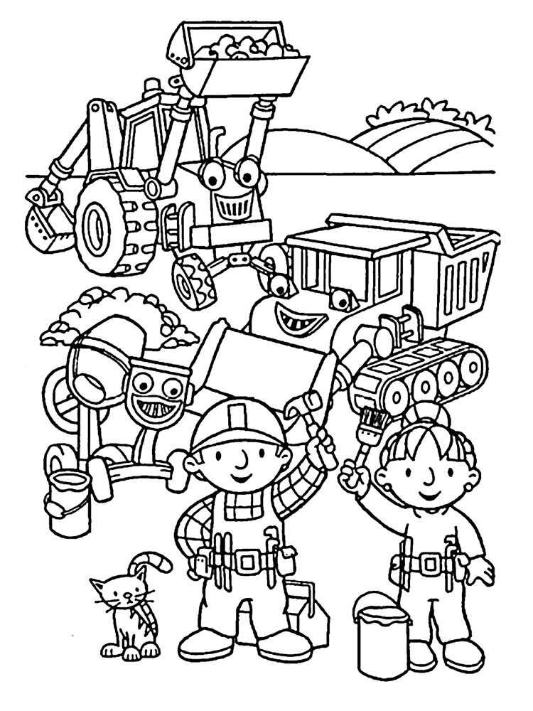 Bob the Builder coloring pages. Download and print Bob the ...