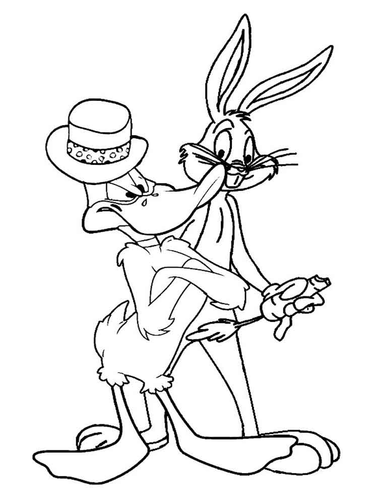 Bugs Bunny coloring pages Download and print Bugs Bunny coloring pages