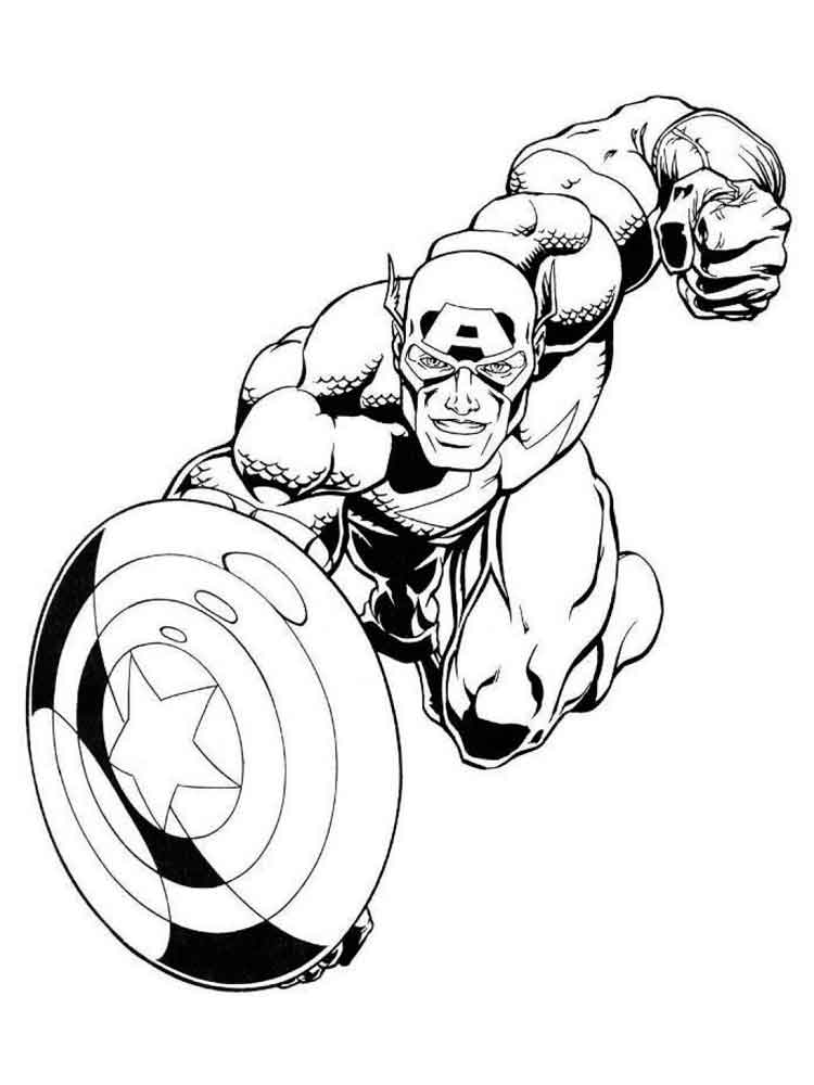 Captain America Coloring Pages Download And Print Captain