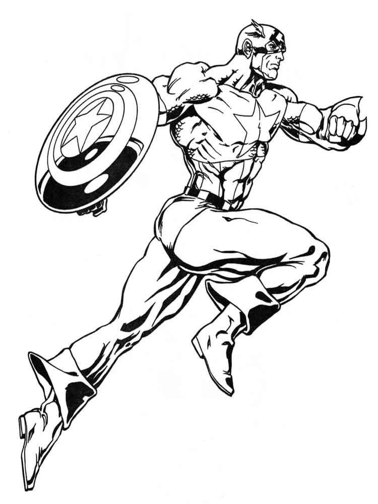 Captain America coloring pages. Download and print Captain ...