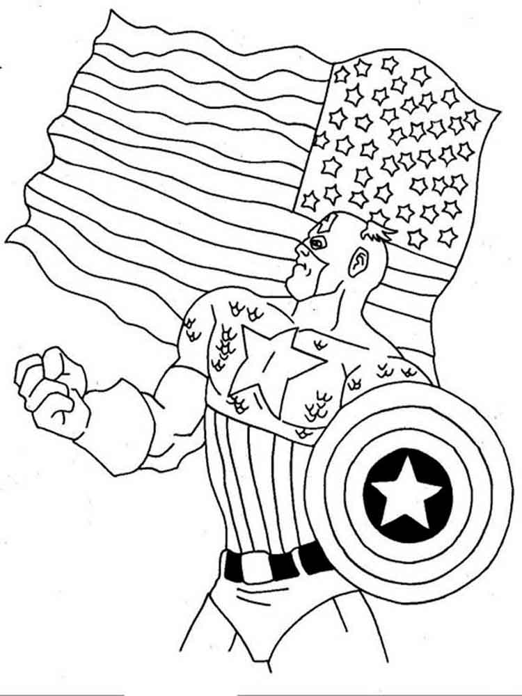 Captain america coloring pages download and print captain for Coloring pages captain america