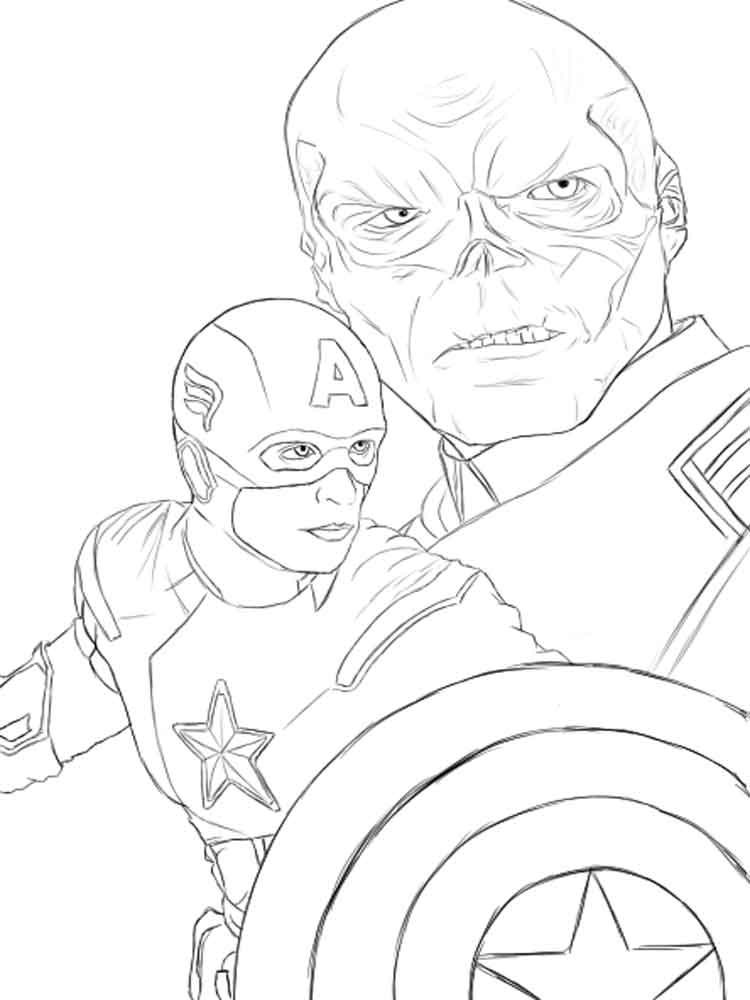 ... Captain America Coloring Pages 4 ...
