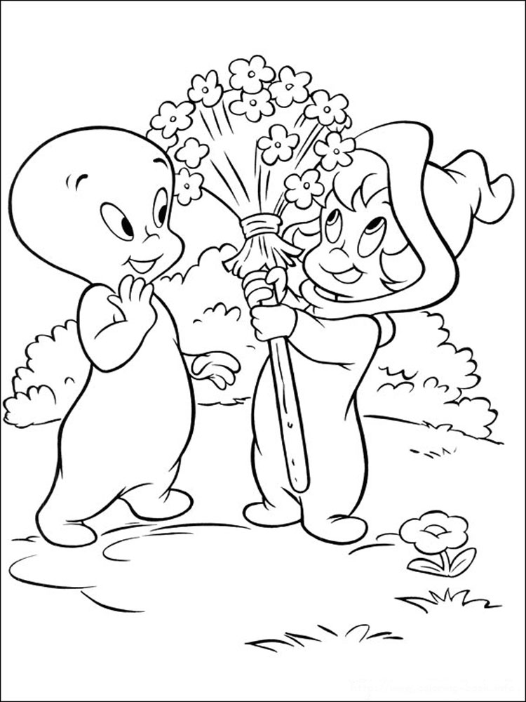 Casper Coloring Pages Download And Print Casper Coloring