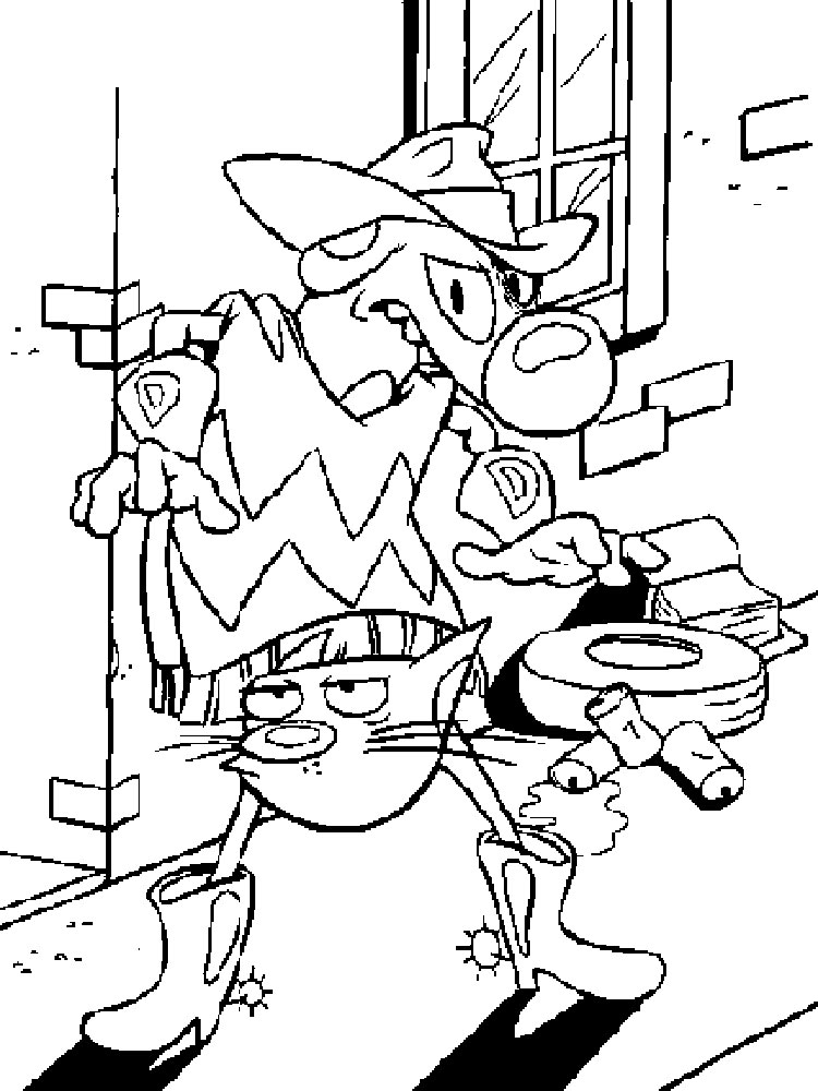 Catdog cartoon coloring pages