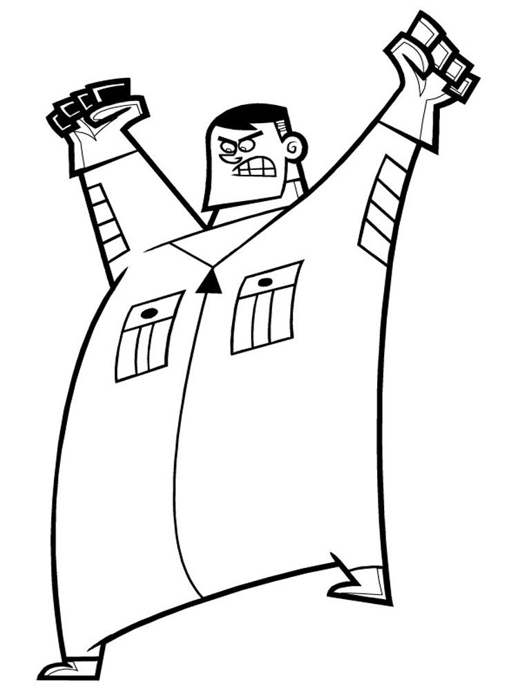 danny phantom printable coloring pages - photo#21