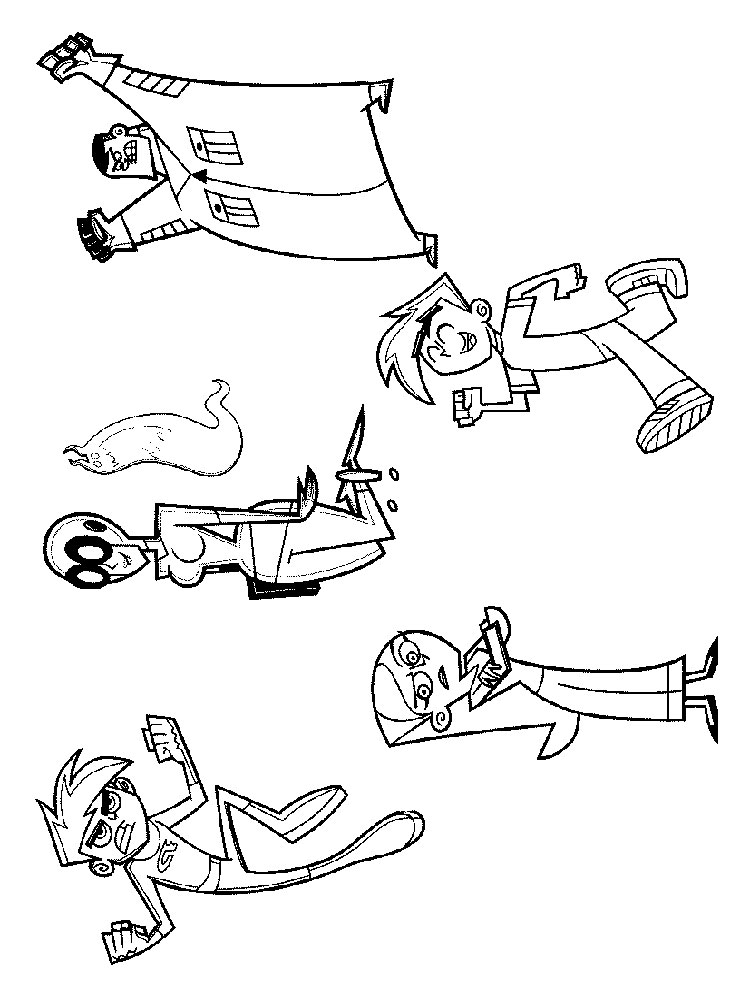 danny phantom printable coloring pages - photo#28