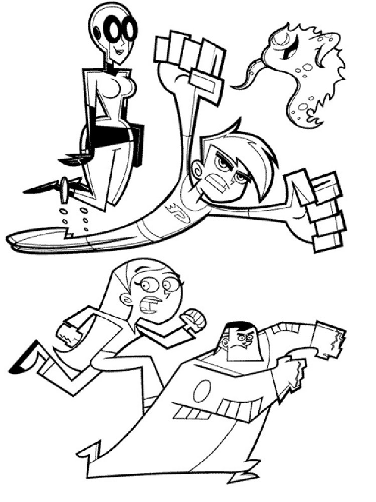 ... Danny Phantom Coloring Pages 7 ...