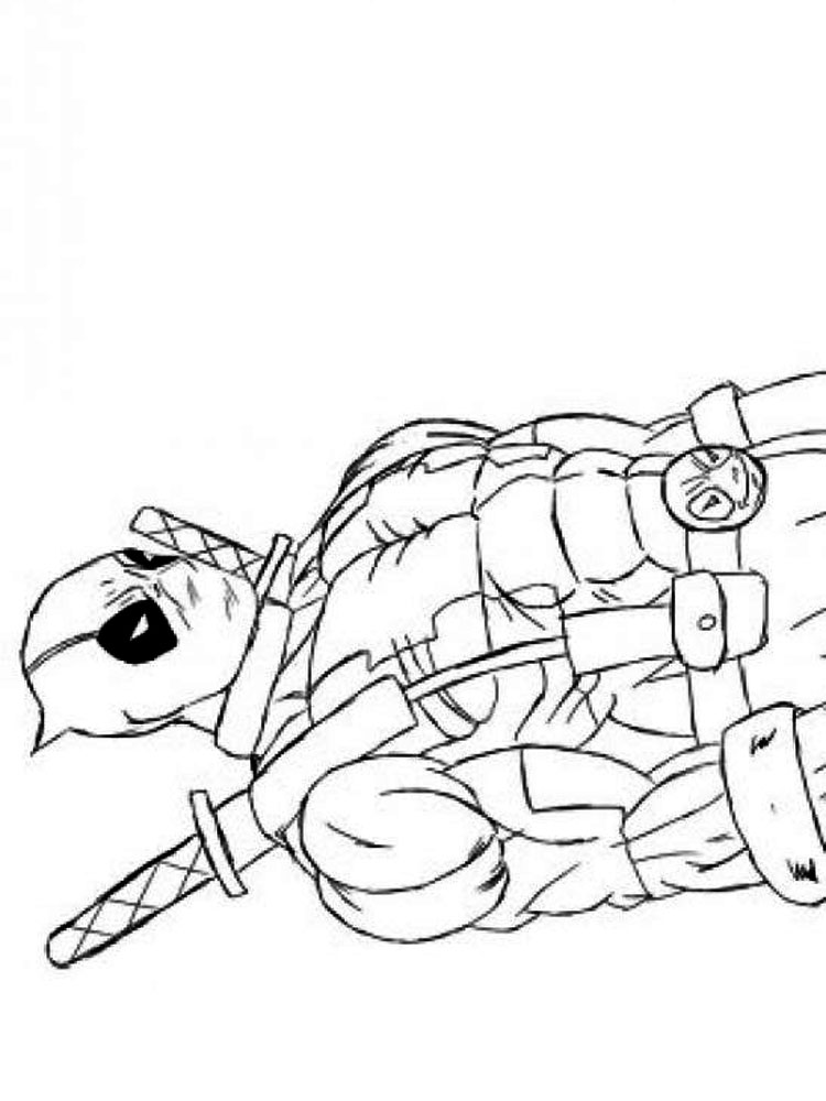 Deadpool Coloring Pages Download And Print