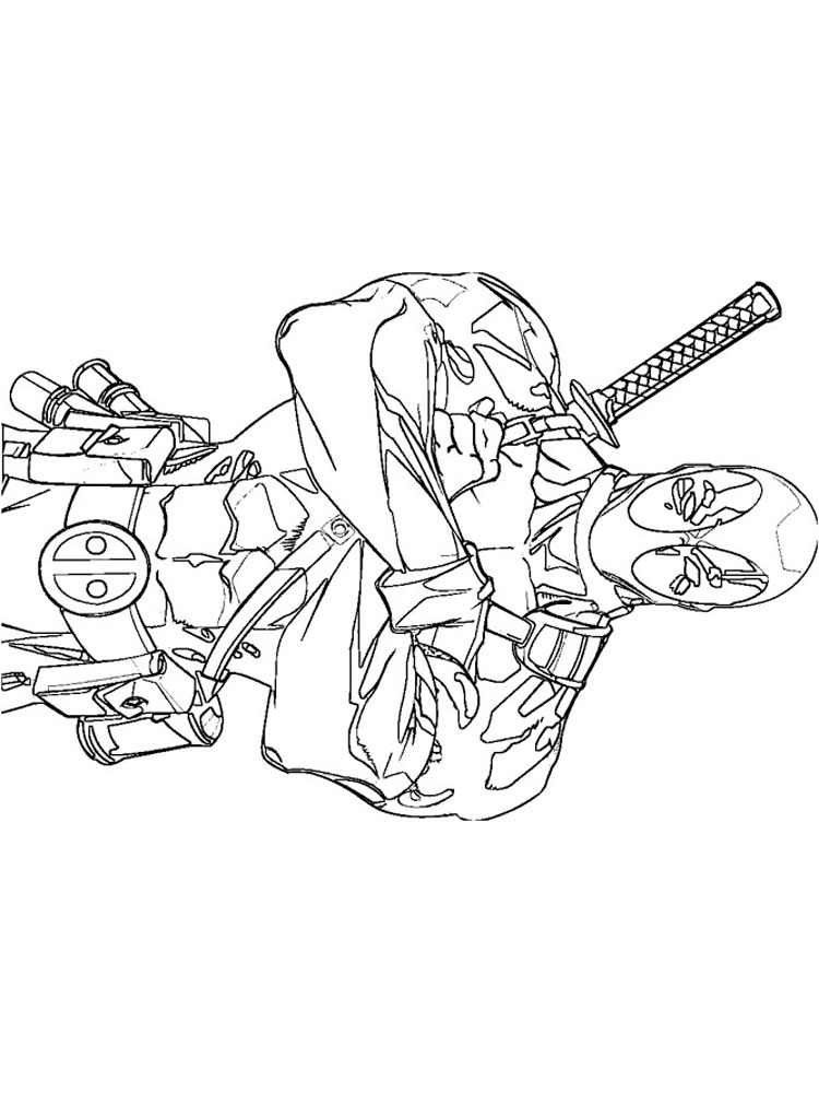 Deadpool coloring pages. Download and print Deadpool ...