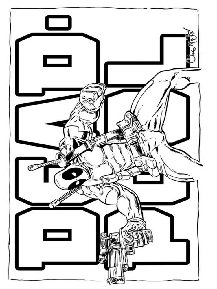 Deadpool coloring pages Download and print Deadpool coloring pages