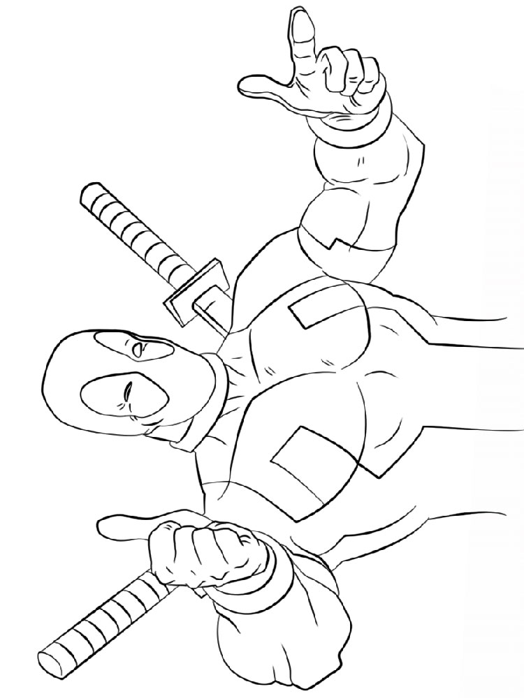 deadpool coloring pages download and print deadpool