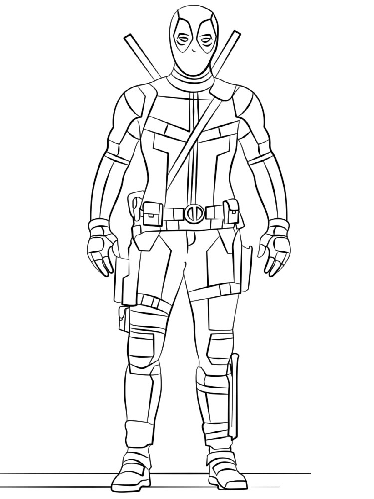 deadpool coloring pages for kids - deadpool coloring pages download and print deadpool