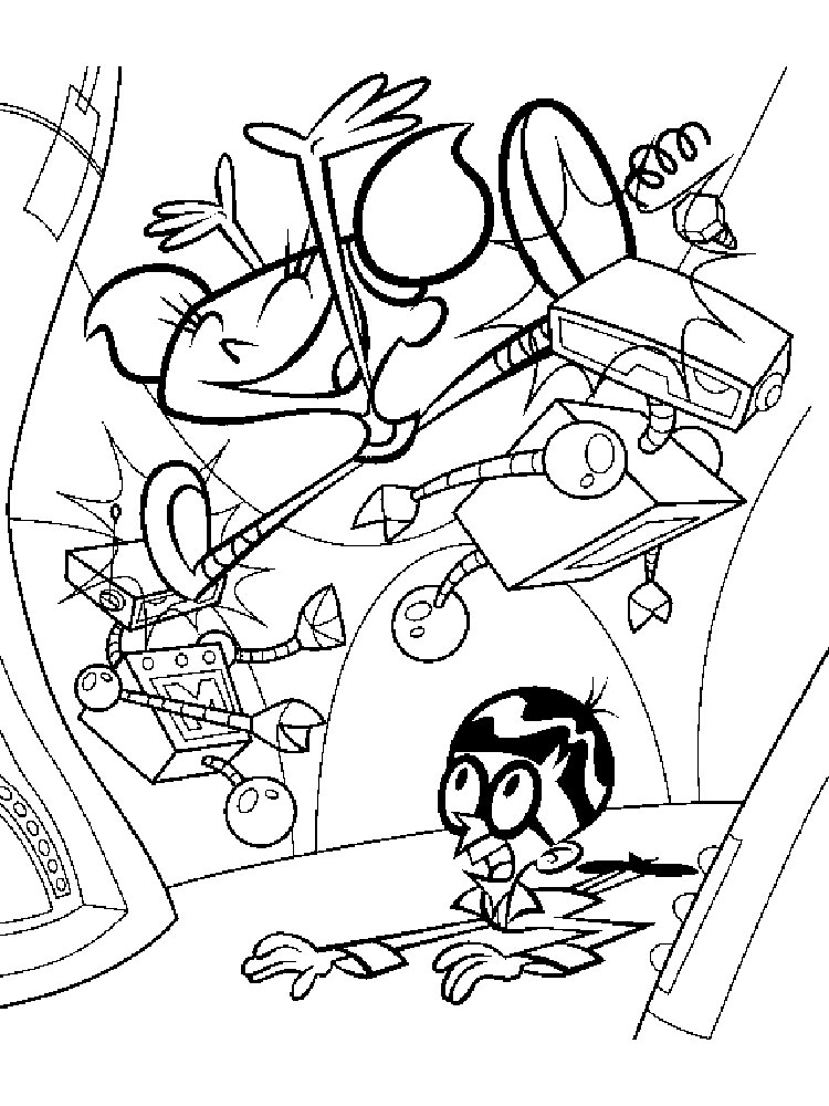 dexters labortory coloring pages - photo#32