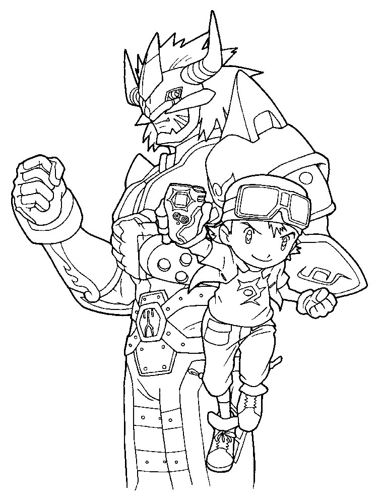 digimon coloring pages 11 - Digimon Coloring Pages