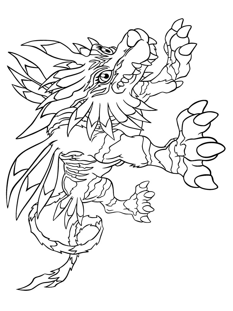 new digimon coloring pages - photo#45