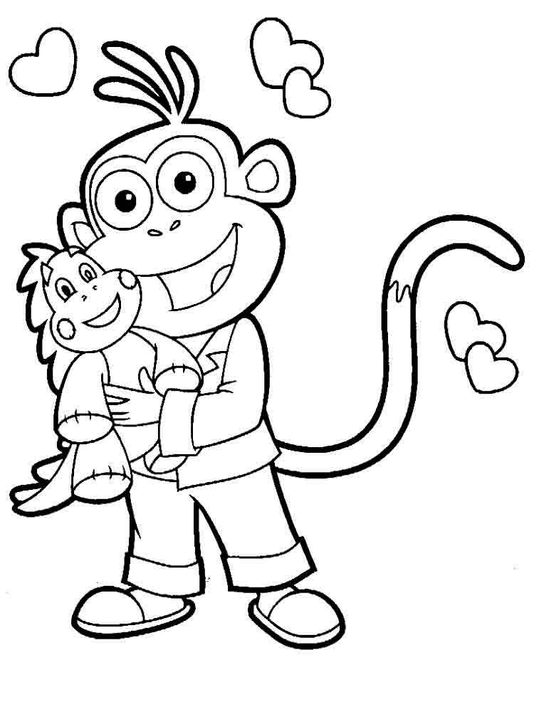 Dora the Explorer coloring pages Download and print Dora the