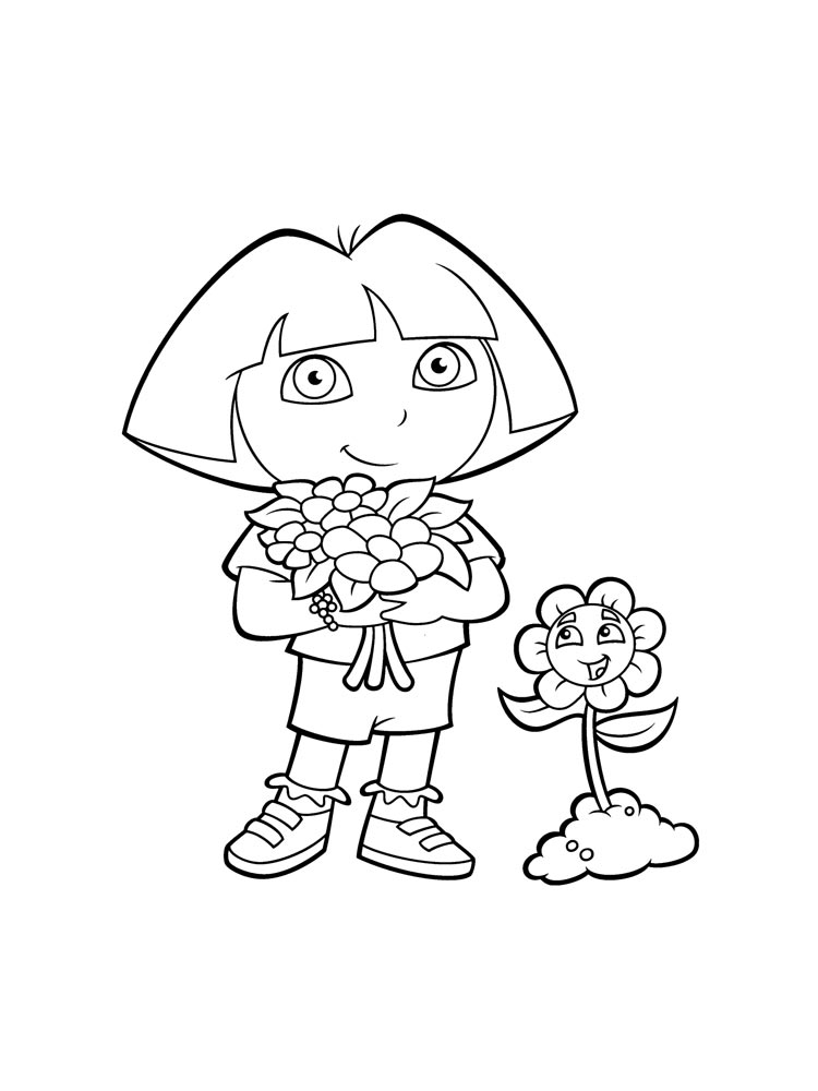 Dora the Explorer coloring pages Download and print Dora