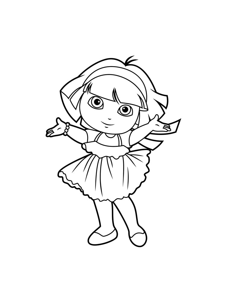 free download dora coloring pages - photo#36