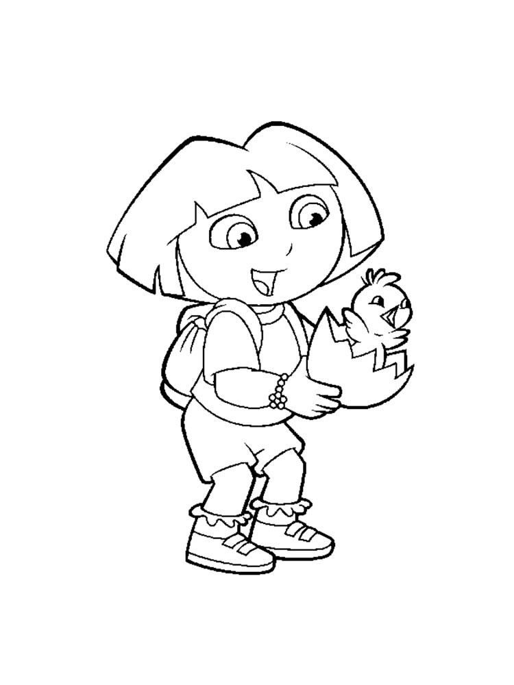 Dora the explorer coloring pages download and print dora for Explorer coloring pages