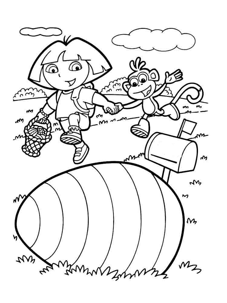 free download dora coloring pages - photo#8