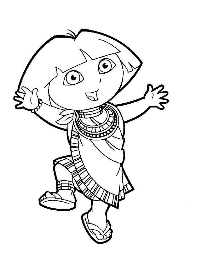 free download dora coloring pages - photo#5