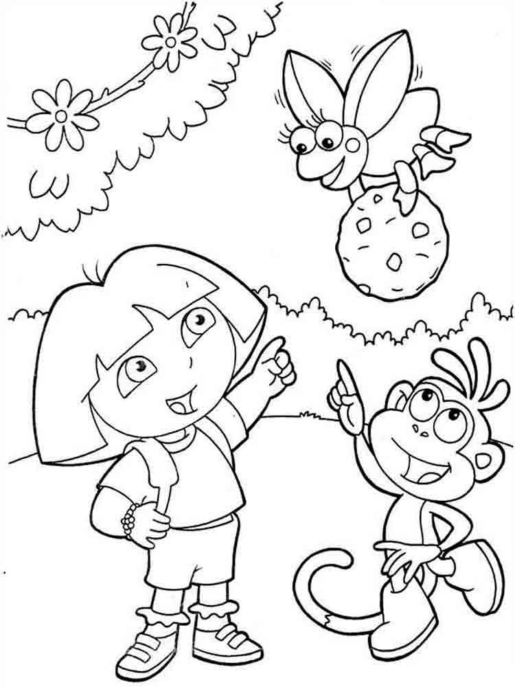 Dora the Explorer coloring pages. Download and print Dora ...