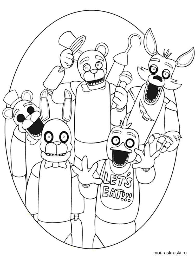 - Free Five Nights At Freddy's Coloring Pages. Download And Print Five Nights  At Freddy's Coloring Pages
