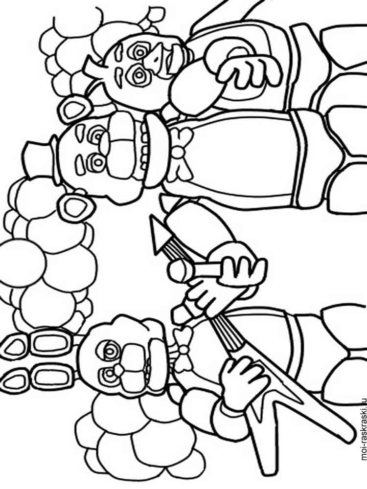 Free Five Nights At Freddy's coloring pages. Download and ...