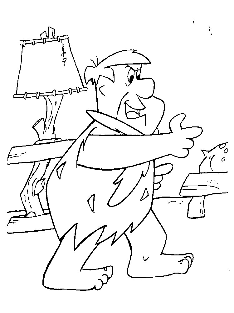 flintstones christmas coloring pages - photo#15