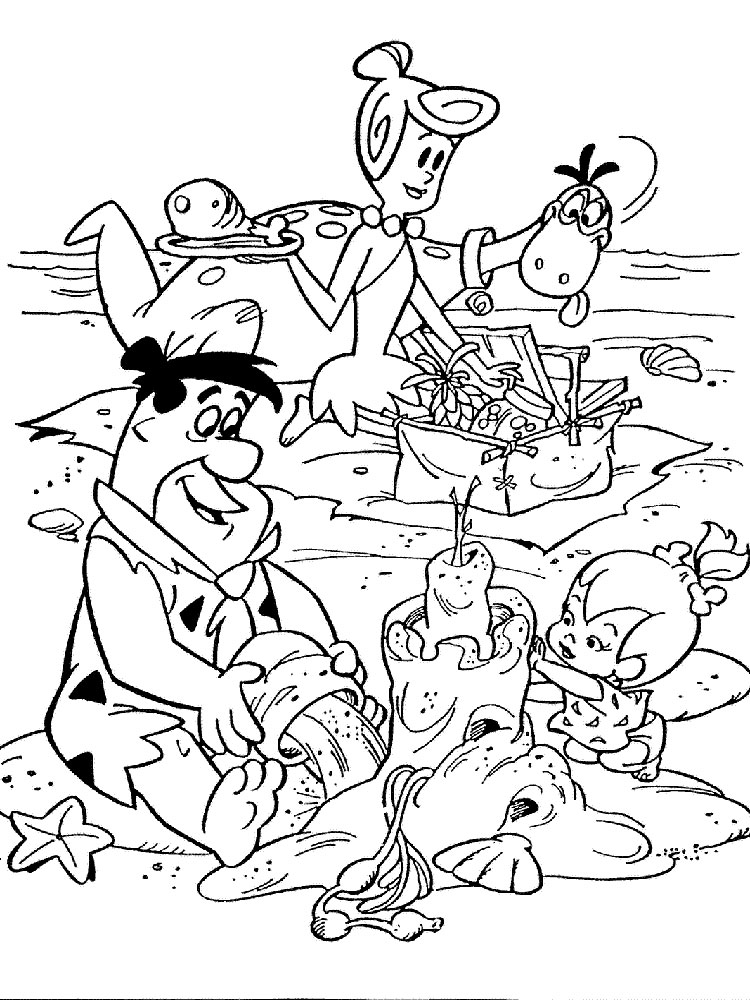 The Flintstones coloring pages Download and print The Flintstones