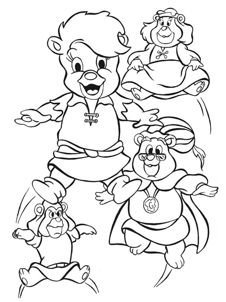 gummy bears coloring pages 10