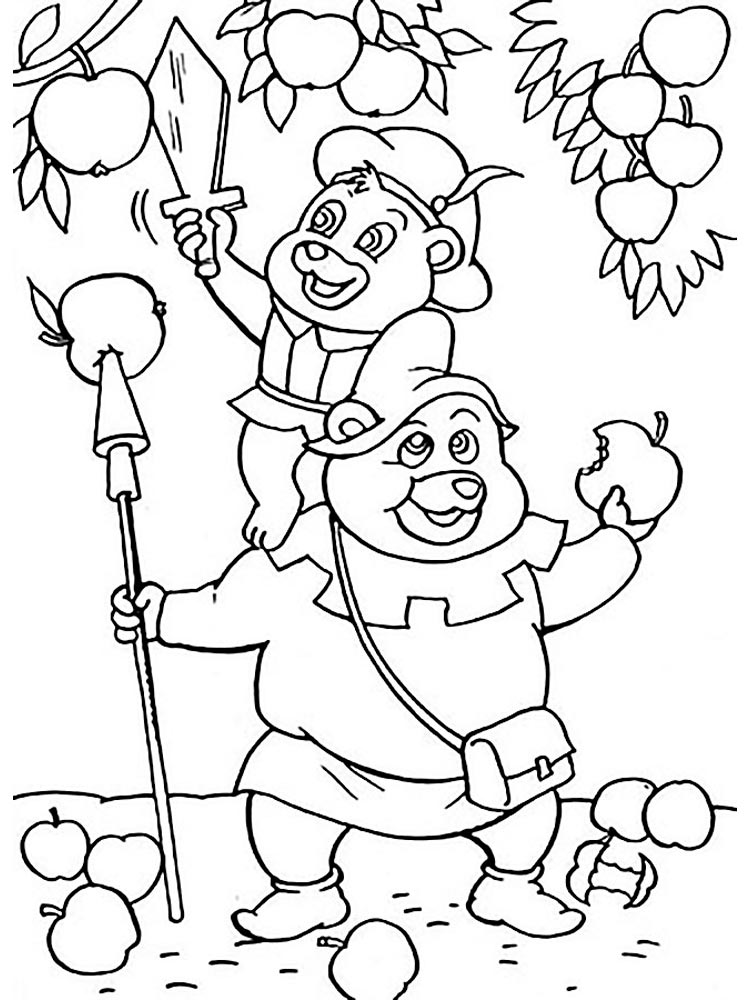 Gummi Bears coloring pages Download and print Gummi Bears coloring