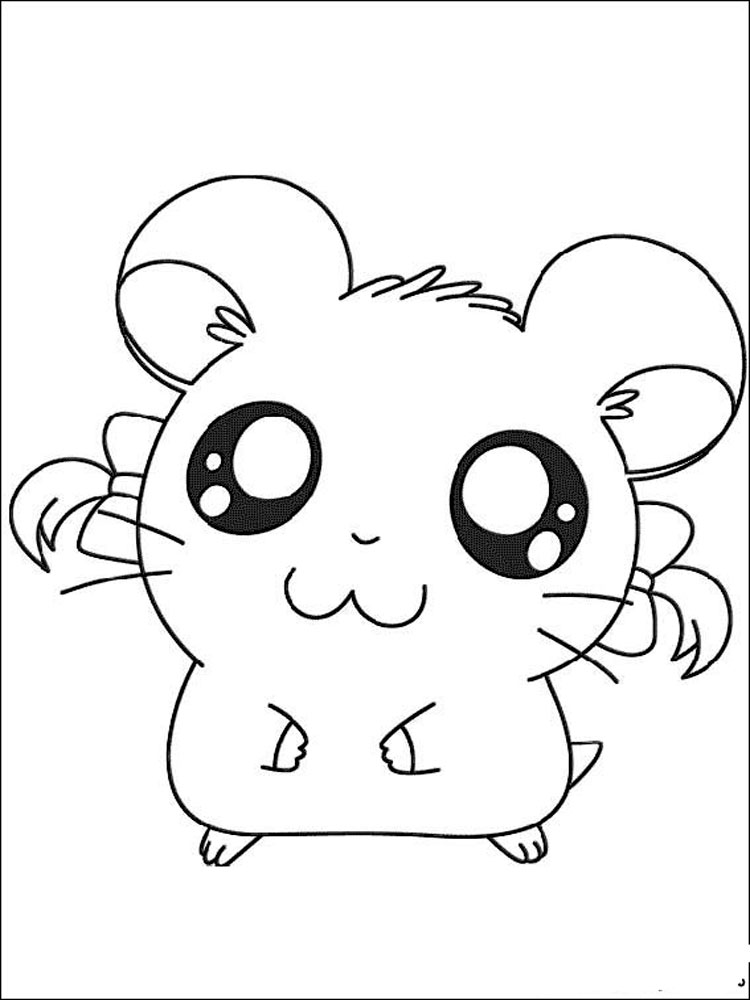 This is an image of Nerdy hamtaro coloring pages